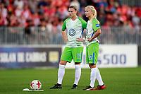 VfL Wolfsburg's Alexandra Popp (l) and Pernille Harden during UEFA Womens Champions League 2017/2018, 1/16 Final, 1st match. October 4,2017. (ALTERPHOTOS/Acero) /NortePhoto.com /NortePhoto.com