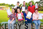 Students from Tarbert Comprehensive School happy with their Leaving cert results on Wednesday morning. Front : Laura Enright, Tara Flavin, Mairead Fitzmaurice & Joanne Histon. Back : Sonny Gadbury, Niall Dowd & Padraigh Lyons.
