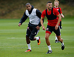 Leon Clarke of Sheffield Utd during the training session at the Shirecliffe Training complex, Sheffield. Picture date: June 27th 2017. Pic credit should read: Simon Bellis/Sportimage