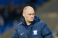 Preston manager Alex Neil ahead of the Sky Bet Championship match between Cardiff City and Preston North End at the Cardiff City Stadium, Cardiff, Wales on 29 December 2017. Photo by Mark  Hawkins / PRiME Media Images.
