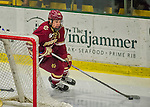 20 February 2016: Boston College Eagle Forward Miles Wood, a Freshman from Manchester, MA, in action during the third period against the University of Vermont Catamounts at Gutterson Fieldhouse in Burlington, Vermont. The Eagles defeated the Catamounts 4-1 in the second game of their weekend series. Mandatory Credit: Ed Wolfstein Photo *** RAW (NEF) Image File Available ***