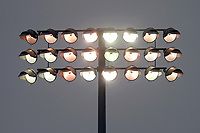 A floodlight in use during Essex CCC vs Yorkshire CCC, Specsavers County Championship Division 1 Cricket at The Cloudfm County Ground on 25th September 2017