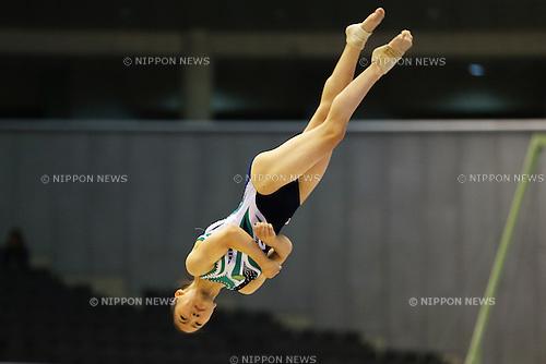 Asuka Teramoto (JPN), <br /> June 30, 2013 - Artistic Gymnastics : <br /> The 67th All Japan Artistic Gymnastics Apparatus Championship, Women's Floor Final <br /> at Tokyo Metropolitan Gymnasium, Tokyo, Japan. <br /> (Photo by Daiju Kitamura/AFLO SPORT)