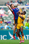 Spain vs Guyana during their HSBC Sevens Wold Series Qualifier match as part of the Cathay Pacific / HSBC Hong Kong Sevens at the Hong Kong Stadium on 27 March 2015 in Hong Kong, China. Photo by Juan Manuel Serrano / Power Sport Images
