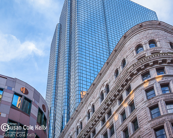 The Boston Stock Exchange Building in the Financial District of Boston, MA, USA