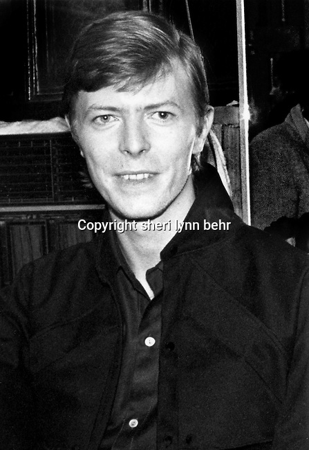 David Bowie backstage at the Paladium after a Roxy Music concert in 1979