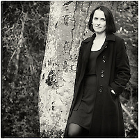 Self portrait of photographer standing in front of tree in the New Forest.