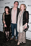 E.V. Day (left), David Mitchell, Joanne Leonhardt Cassullo (far right) arrives with guests at the annual Whitney Art Party hosted by the Whitney Contemporaries, and sponsored by Max Mara, at Skylight at Moynihan Station on May 1, 2013.