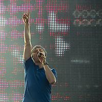 MADRI, ESPANHA, 07 DE JULHO 2012 - ROCK IN RIO MADRI - O DJ Martin Solveig durante apresentacao no Rock In Rio Madri, na noite de ontem sexta-feira, 06. (FOTO: ALFAQUI / BRAZIL PHOTO PRESS).