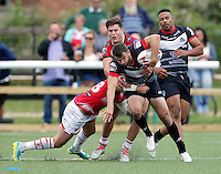 Elliot Kear in action for London during the Kingstone Press Championship game between London Broncos and Leigh Centurions at Ealing Trailfinders, Ealing, on Sun June 26,2016