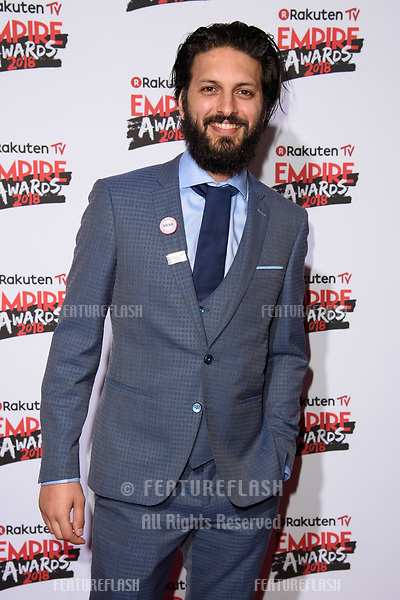 Shazad Latif arriving for the Empire Awards 2018 at the Roundhouse, Camden, London, UK. <br /> 18 March  2018<br /> Picture: Steve Vas/Featureflash/SilverHub 0208 004 5359 sales@silverhubmedia.com