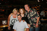 Kim Zimmer, Liz Keifer, Jordan Clarke, Frank Dicopoulos at the First Meet and Greet Welcome Aboard Party on Day 1 July 31, 2010 - So Long Springfield at Sea - A Final Farewell To Guiding Light sets sail from NYC to St. John, New Brunwsick and Halifax, Nova Scotia from July 31 to August 5, 2010  aboard Carnival's Glory (Photos by Sue Coflin/Max Photos)