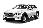 2015 Mazda CX-3 Pure Edition 5 Door Suv Angular Front stock photos of front three quarter view