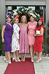 Geraldine Lucey, Emma Harte, Heather Kate Burke, Mary o'Shea and Shauna-Leanne O'Sullivan from Kenmare pictured at the Killarney Apres Races party in The Brehon Hotel, Killarney on Thursday night.<br /> Photo: Don MacMonagle<br /> <br /> repro free photo<br /> further info: Aoife O'Donoghue aoife.odonoghue@gleneaglehotel.com