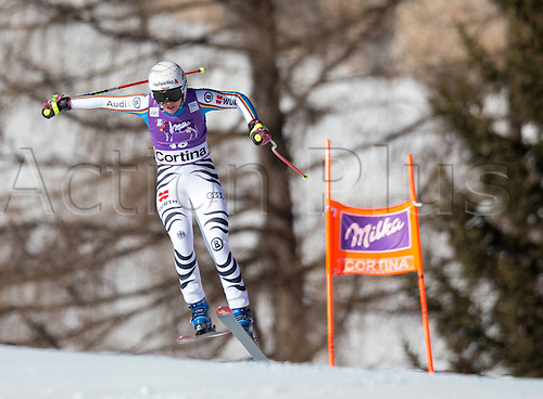 23.01.2016. Cortina d Ampezzo, Italy, FIS Womens World Cup Downhill Skiing.  Viktoria Rebensburg of Germany competes