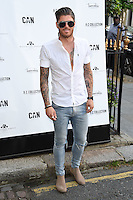 Sam Reece<br /> arrives for the Amy Childs Summer Collection show at Beach Blanket Babylon, Notting Hill, London.<br /> <br /> <br /> ©Ash Knotek  D3129  06/06/2016