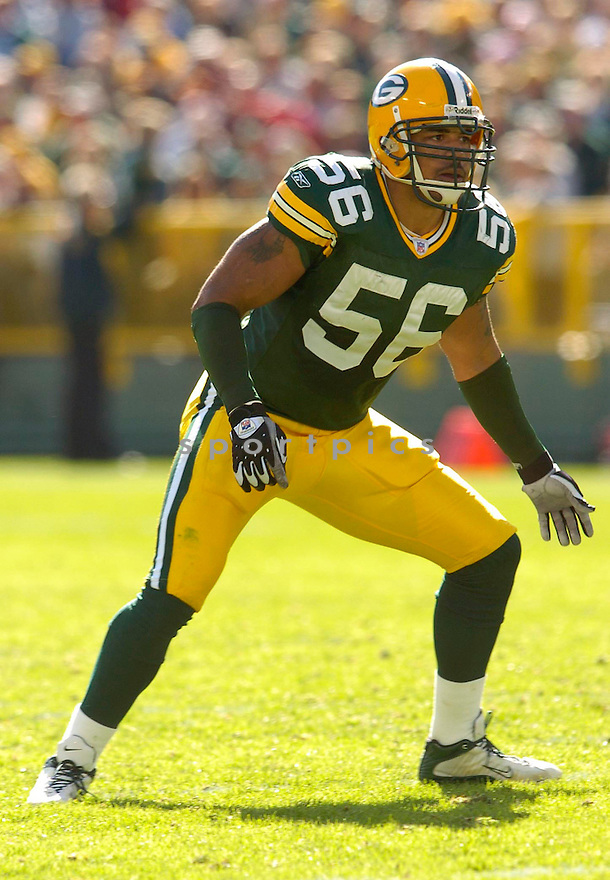 Nick Barnett, of the Green Bay Packers, during their game against the New Orleans Saints on October 9, 2005...Packers win 52-3...Chris Bernacchi / SportPics