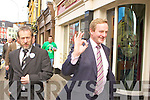 Fine Gael leader Enda Kenny with his collegues in Killarney on Saturday.