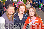 Laura Quile(Athea), Ellie Moloney(Abbeyfeale) and Megan Carroll(Athea) enjoying the open air concert at the Fleadh by the Feale in Abbeyfeale last Saturday night.