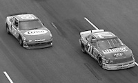 Dave Marcis (71) Jimmy Spencer (88) action Heinz Southern 500 at Darlington Raceway in Darlington, SC on September 3, 1989. (Photo by Brian Cleary/www.bcpix.com)