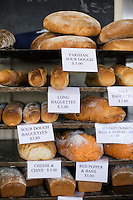 Freshly baked bread at Jackman & McRoss - a renowned bakery and cafe at Battery Point.  Hobart, Tasmania, AUSTRALIA