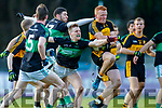Johnny Buckley Dr Crokes in action against Alan O'Donovan Nemo Rangers in the Munster Senior Club Championship Final at Páirc Ui Rinn, Cork on Sunday.