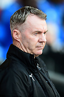 Fleetwood Town manager John Sheridan looks on<br /> <br /> Photographer Richard Martin-Roberts/CameraSport<br /> <br /> The EFL Sky Bet League One - Blackpool v Fleetwood Town - Saturday 14th April 2018 - Bloomfield Road - Blackpool<br /> <br /> World Copyright &not;&copy; 2018 CameraSport. All rights reserved. 43 Linden Ave. Countesthorpe. Leicester. England. LE8 5PG - Tel: +44 (0) 116 277 4147 - admin@camerasport.com - www.camerasport.com