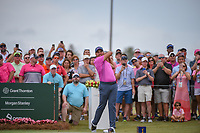 Jason Day (AUS) watches his tee shot on 1 during round 4 of The Players Championship, TPC Sawgrass, at Ponte Vedra, Florida, USA. 5/13/2018.<br /> Picture: Golffile | Ken Murray<br /> <br /> <br /> All photo usage must carry mandatory copyright credit (&copy; Golffile | Ken Murray)