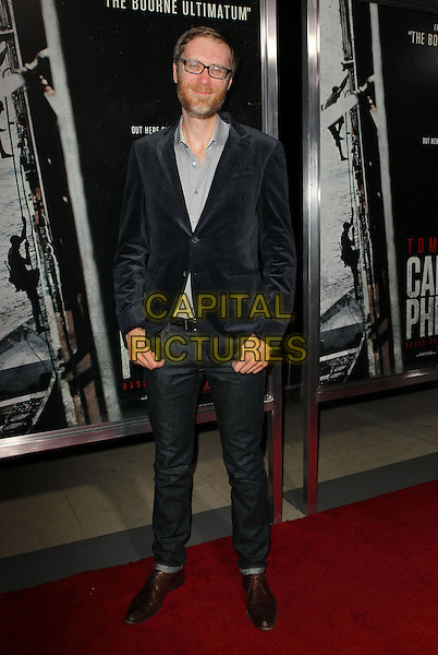 Stephen Merchant<br /> Premiere of &quot;Captain Phillips&quot; held at the Academy of Motion Picture Arts and Sciences, Beverly Hills, California, USA.<br /> September 30th, 2013<br /> full length blue suit jacket grey gray shirt glasses beard facial hair jeans denim<br /> CAP/ADM/KB<br /> &copy;Kevan Brooks/AdMedia/Capital Pictures