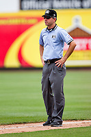 First Base Umpire Greg Stanzak during a game between the Springfield Cardinals and the Tulsa Drillers at Hammons Field on June 27, 2011 in Springfield, Missouri. (David Welker / Four Seam Images)
