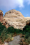 Utah: Capitol Reef National Park.  Land form and Fremont River.  .Photo copyright Lee Foster, www.fostertravel.com.Photo #: utcapi105, 510/549-2202, lee@fostertravel.com