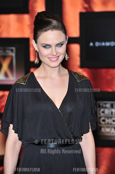 Emily Deschanel at the 13th Annual Critics' Choice Awards at the Santa Monica Civic Auditorium..January 7, 2008  Los Angeles, CA.Picture: Paul Smith / Featureflash