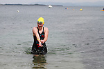"""Alison Cardwell, 2nr Place Ladies at the Clogherhead """"Round the Head Swim""""....(Photo credit should read Jenny Matthews/NEWSFILE)..."""