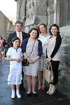 Annie Kinsella with her family, Ken, Una, Eileen and Jane at Congress Avenue and Fatima Confirmation in St.Mary's Church...(Photo credit should read Jenny Matthews www.newsfile.ie)....This Picture has been sent you under the conditions enclosed by:.Newsfile Ltd..The Studio,.Millmount Abbey,.Drogheda,.Co Meath..Ireland..Tel: +353(0)41-9871240.Fax: +353(0)41-9871260.GSM: +353(0)86-2500958.email: pictures@newsfile.ie.www.newsfile.ie.