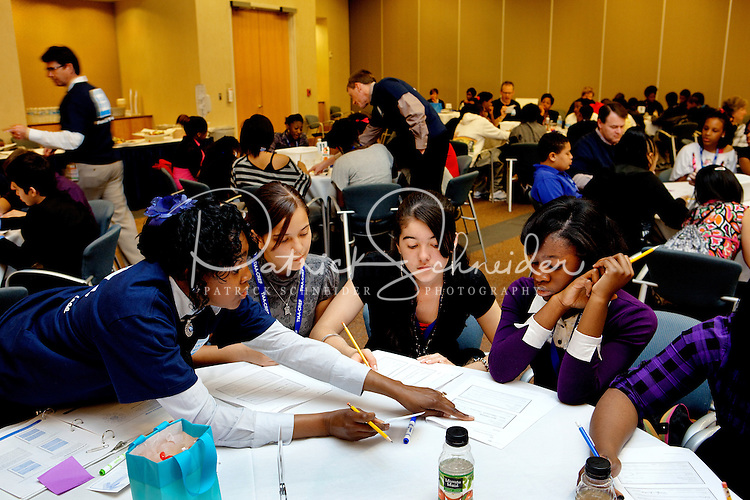"""TIAA-CREF - is celebrating National Financial Literacy month by hosting """" financial literacy in a day"""" event in Charlotte, NC. TIAA employee volunteers are teaching 400 Eighth students from Ranson Middle School and Martin Middle School over a three-day period."""