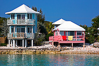 Guest houses on Staniel Cay, Exuma Islands, Bahamas.