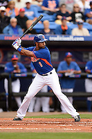 New York Mets outfielder Chris Young (1) during a spring training game against the Washington Nationals on March 27, 2014 at Tradition Field in St. Lucie, Florida.  Washington defeated New York 4-0.  (Mike Janes/Four Seam Images)