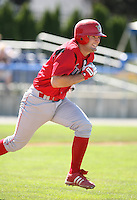 2007:  Tim Kennelly of the Williamsport Crosscutters, Class-A affiliate of the Philadelphia Phillies, during the New York-Penn League baseball season.  Photo By Mike Janes/Four Seam Images