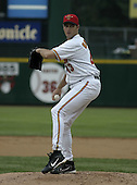 June 17, 2004:  Pitcher Gary Glover of the Rochester Red Wings, Triple-A International League affiliate of the Minnesota Twins, during a game at Frontier Field in Rochester, NY.  Photo by:  Mike Janes/Four Seam Images