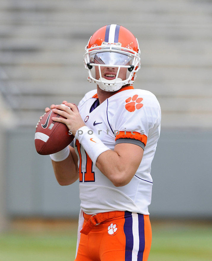 KYLE PARKER, of the Clemson Tigers, in action during the Tigers game against the North Carolina State Wolfpack on November 14, 2009 in Raleigh, NC. Clemson won 43-23.