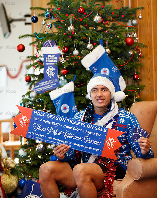 James Tavernier ready for Xmas with his Rangers presents