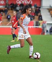 20181027 - CAMPHIN-EN-PEVELE , FRANCE : Montpellier's Maelle Lakrar pictured during the 8 th competition game between the women teams of Lille OSC and Montpellier Herault Sporting Club in the 2018-2019 season of the first Division - Ligue 1 at Domaine de Luchin , Saturday 27th Octobre 2018 ,  PHOTO Dirk Vuylsteke | Sportpix.Be
