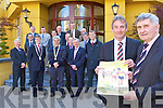 the Killarney Lions Club 10 km Mini Marathon and Walk which will be held in Killarney on 17th May in the Killarney park Hotel on Thursday front row l-r: front row l-r: Philip O'Neill, Patrick O'Donoghue Killarney Mayor, John O'Callaghan, Michael Griffin Kerry Hospice, Diarmuid Murphy. Middle row: Colm O'Shea, Eoin Brosnan, Ken O'Leary, Seamus Moynihan, Tony Darmody. Back row: Denis Murphy, Liam Kealy, John Buckley, Liam Ryan and Sean O'Callaghan