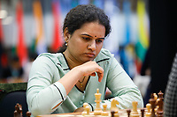 29th December 2019, Moscow, Russia;  Koneru Humpy of India competes with Lei Tingjie of China in a tie-break of the 2019 King Salman World Chess Rapid Women Championship in Moscow, Russia