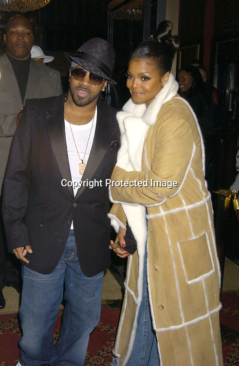 "Jermaine Dupri and Janet Jackson ..at the World Premiere of ""Jay-Z Fade to Black"" on ..November 4, 2004 at the Ziegfeld Theatre. ..Photo by Robin Platzer, Twin Images"