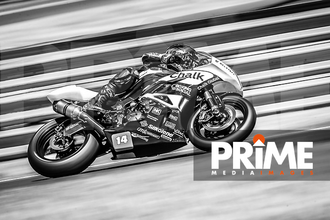 Tim Neave of the Neave Twins team (No. 14) during the Pirelli National Superstock 600 Championship race at Round 5 of the 2017 MCE British Superbikes Championship  at Snetterton Circuit, Norwich, England on 2 July 2017. Photo by David Horn.