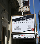 Theatre Marquee unveiling for the David Henry Hwang play  'M. Butterfly' starring Clive Owen at The Cort Theatre on August 16, 2017 in New York City.