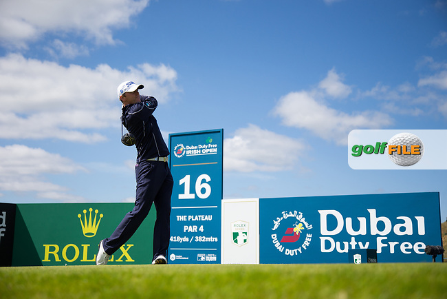 Michael Hoey (NIR) on the 16th during the 3rd round at the Dubai Duty Free Irish Open hosted by the Rory Foundation, at Portstewart Golf Club, Portstewart, Co. Derry, Northern Ireland. 08/07/2017<br /> Picture: Golffile   Fran Caffrey<br /> <br /> <br /> All photo usage must carry mandatory copyright credit (&copy; Golffile   Fran Caffrey)