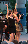 Alli Mauzey and Nicole Parker perform with the Reno Phil during the Pops on the River fundraiser at Wingfield Park in Reno on  Saturday, July 9, 2016.