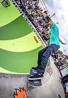 Shaun Boucher. 2018 Wellington Bowlzilla skateboarding tournament at Waitangi Park Skate Bowl in Wellington, New Zealand on Saturday, 10 March 2018. Photo: Dave Lintott / lintottphoto.co.nz